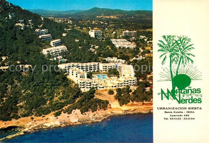 AK / Ansichtskarte Santa Eulalia del Rio Apartamentos Montanas Verdes Vista aerea Kat. Ibiza Islas Baleares