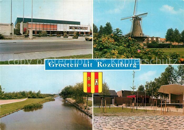 AK / Ansichtskarte Rozenburg Halle Windmuehle Kanal