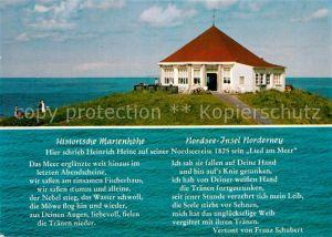 AK / Ansichtskarte Schubert Franz Lied am Meer Marienhoehe Norderney  Kat. Persoenlichkeiten
