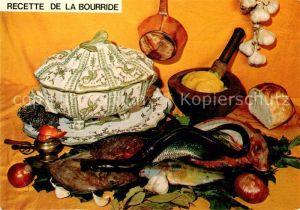 AK / Ansichtskarte Lebensmittel Bourride Recette  Kat. Lebensmittel