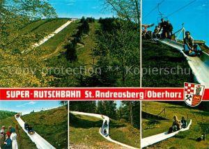 AK / Ansichtskarte Sommerrodelbahn Super Rutschbahn Matthias Schmidt Berg St. Andreasberg