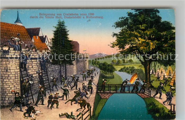 AK / Ansichtskarte Crailsheim Belagerung anno 1380 Kat. Crailsheim