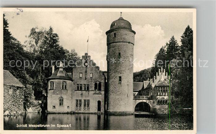 AK / Ansichtskarte Mespelbrunn Wasserschloss Kat. Mespelbrunn