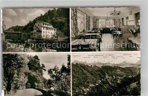 AK / Ansichtskarte Tiefenstein Albtal Gasthof Pension zur Post Gaststube Panorama Tunnel  Kat. Goerwihl