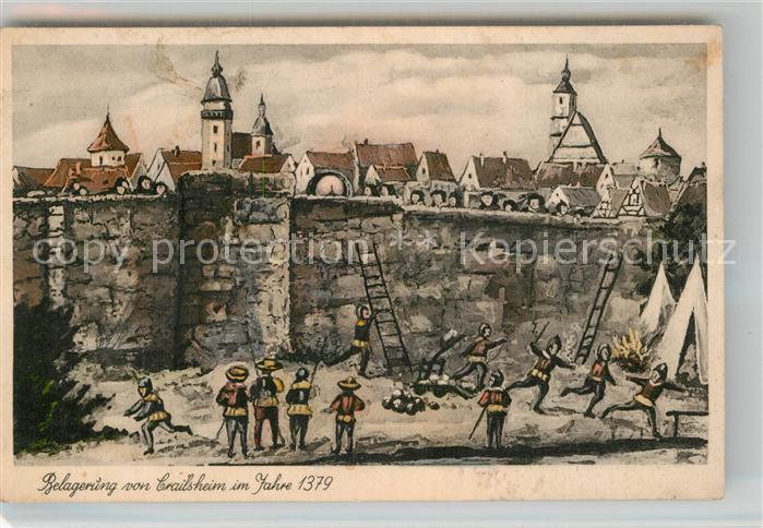 AK / Ansichtskarte Crailsheim Belagerung anno 1379 Kat. Crailsheim