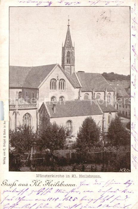 AK / Ansichtskarte Heilsbronn Muensterkirche Kat. Heilsbronn
