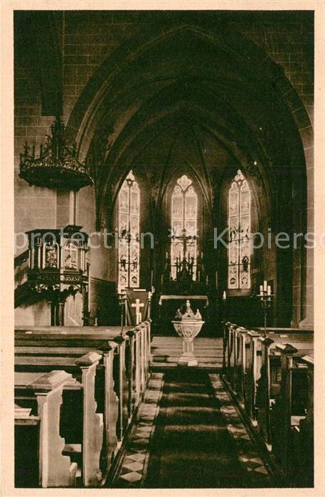 AK / Ansichtskarte Neuendettelsau Inneres der Anstaltskirche  Kat. Neuendettelsau