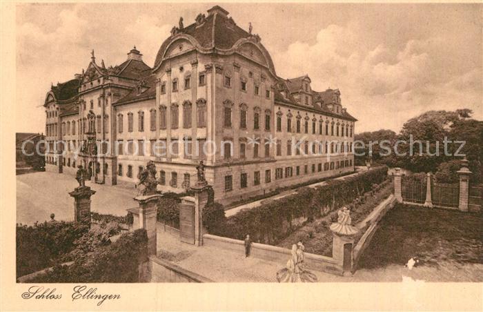 AK / Ansichtskarte Ellingen Bayern Schloss Kat. Ellingen