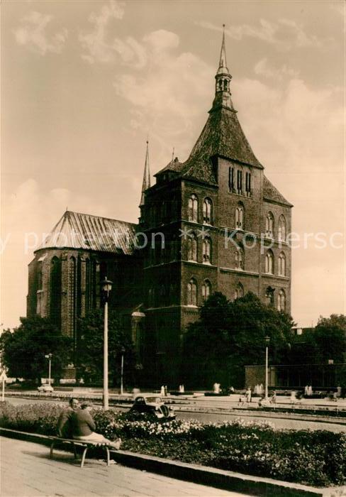 AK / Ansichtskarte Rostock Mecklenburg Vorpommern Marienkirche Kat. Rostock