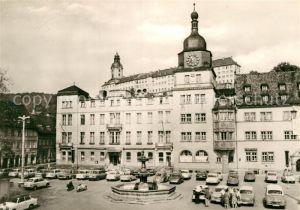 AK / Ansichtskarte Rudolstadt Blick vom Marktplatz zum Schloss Heidecksburg Kat. Rudolstadt