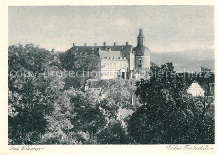 AK / Ansichtskarte Bad Wildungen Schloss Friedrichstein Kat. Bad Wildungen