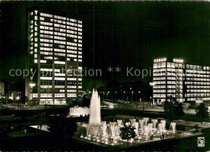 AK / Ansichtskarte Berlin Ernst Reuter Platz Wasserspiele Nachtaufnahme Kat. Berlin