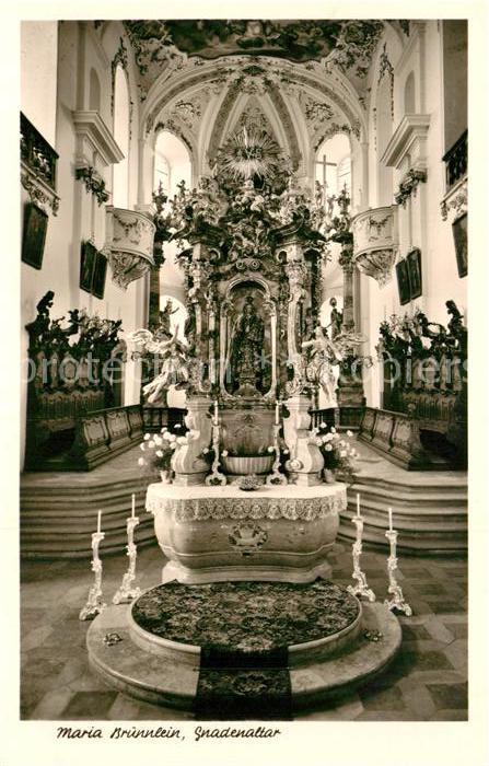 AK / Ansichtskarte Wemding Maria Bruennlein Gnadenaltar in der Wallfahrtskirche  Kat. Wemding