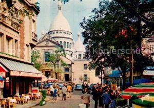 AK / Ansichtskarte Paris Place du Tertre et le Sacre Coeur Kat. Paris
