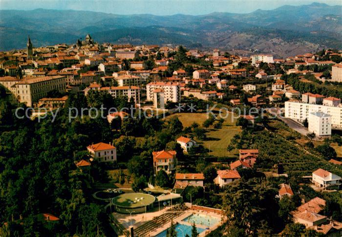 AK / Ansichtskarte Aubenas en Vivarais La Piscine et la ville dans leur cadre de montagnes