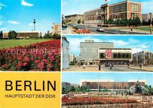 AK / Ansichtskarte Berlin Palast der Republik Staatsratsgebaeude Interhotel Berolina Palast der Republik Neptunbrunnen Kat. Berlin