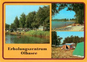 AK / Ansichtskarte Kleinsaubernitz Erholungszentrum Olbasee Camping
