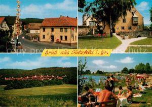 AK / Ansichtskarte Sulzfeld Grabfeld Teilansichten Strand Badesee Kat. Sulzfeld