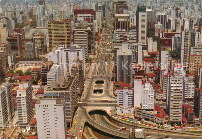 AK / Ansichtskarte Sao Paulo Fliegeraufnahme  Kat. Sao Paulo