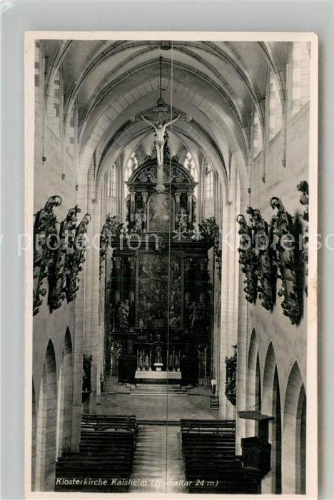 AK / Ansichtskarte Kaisheim Inneres der Klosterkirche Hochaltar Kat. Kaisheim