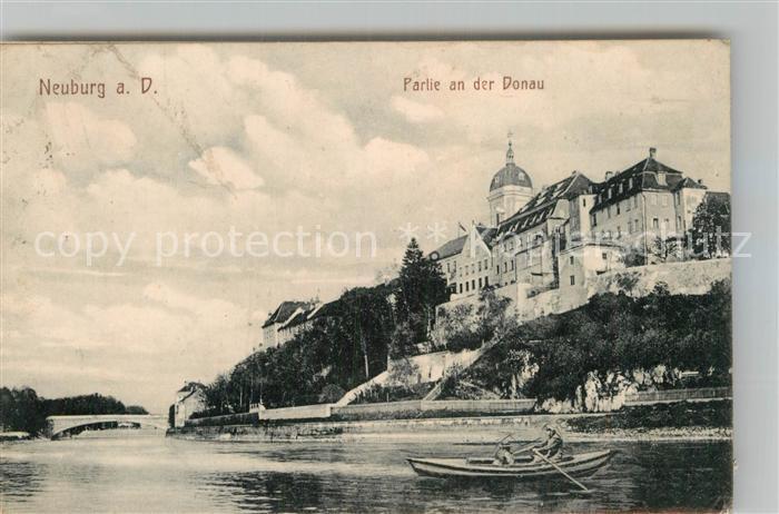 AK / Ansichtskarte Neuburg Donau Partie an der an der Donau Kat. Neuburg a.d.Donau