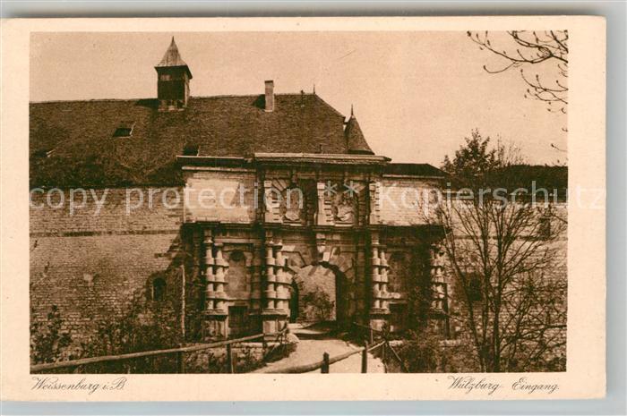 AK / Ansichtskarte Weissenburg Bayern Wuelzburg Eingang Kat. Weissenburg i.Bay.