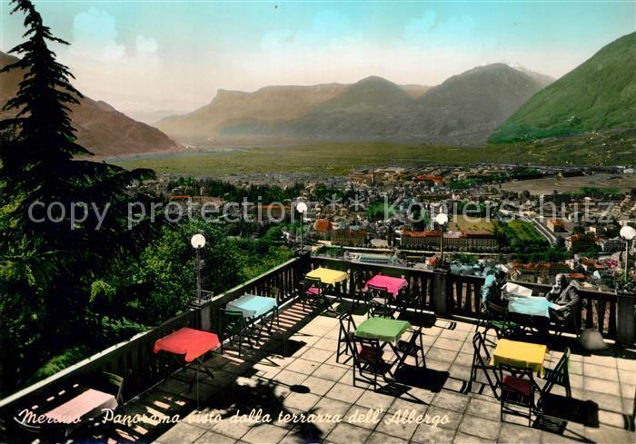 AK / Ansichtskarte Meran Merano Panorama vista dalla terrazza dell ...