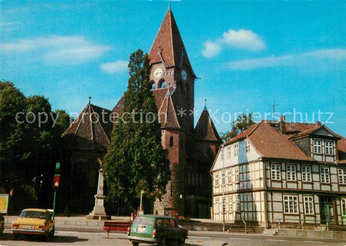 AK / Ansichtskarte Dahlenburg Kirche Fachwerkhaus Kat. Dahlenburg