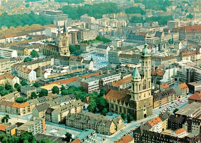 AK / Ansichtskarte Braunschweig Fliegeraufnahme St. Andreas Kirche St.Katharinen Kirche Theater  Kat. Braunschweig