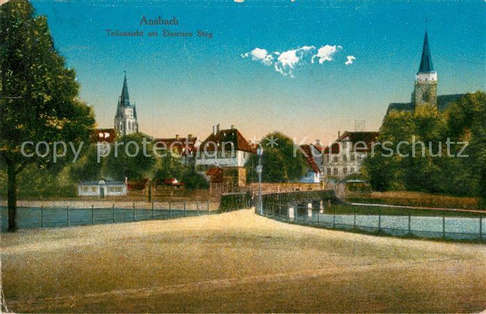 AK / Ansichtskarte Ansbach Mittelfranken Eiserner Steg Kat. Ansbach