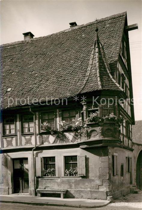 AK / Ansichtskarte Rothenburg Tauber Fachwerkhaus Kat. Rothenburg ob der Tauber