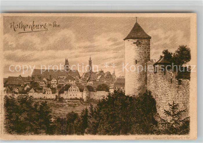 AK / Ansichtskarte Rothenburg Tauber Turm Panorama Kat. Rothenburg ob der Tauber