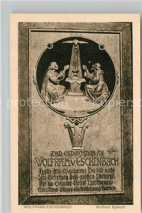 AK / Ansichtskarte Wolframs Eschenbach Gedenkkarte Kat. Wolframs Eschenbach