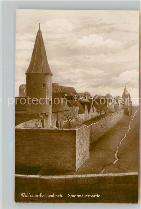 AK / Ansichtskarte Wolframs Eschenbach Stadtmauerpartie Kat. Wolframs Eschenbach
