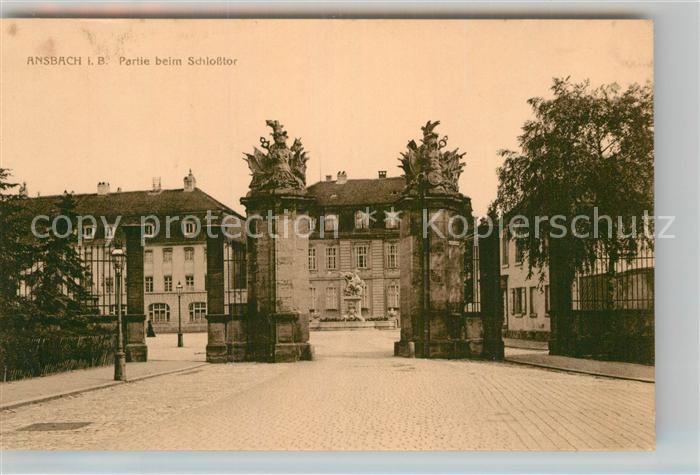 AK / Ansichtskarte Ansbach Mittelfranken Schlosstor Kat. Ansbach