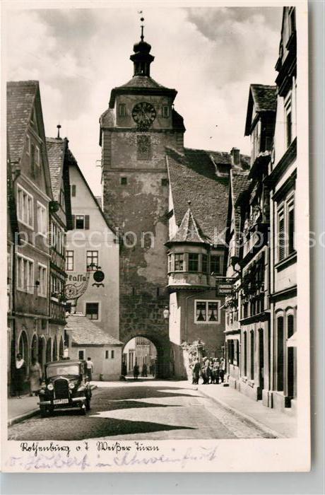 AK / Ansichtskarte Rothenburg Tauber Weisser Turm Kat. Rothenburg ob der Tauber