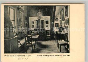 AK / Ansichtskarte Rothenburg Tauber Ortsmuseum Buergerzimmer Stil Louis XVI Kat. Rothenburg ob der Tauber