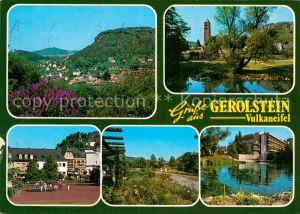 AK / Ansichtskarte Gerolstein Gesamtansicht Luftkurort Partie am Wasser Kirche Kurhaus Park Platz Kat. Gerolstein