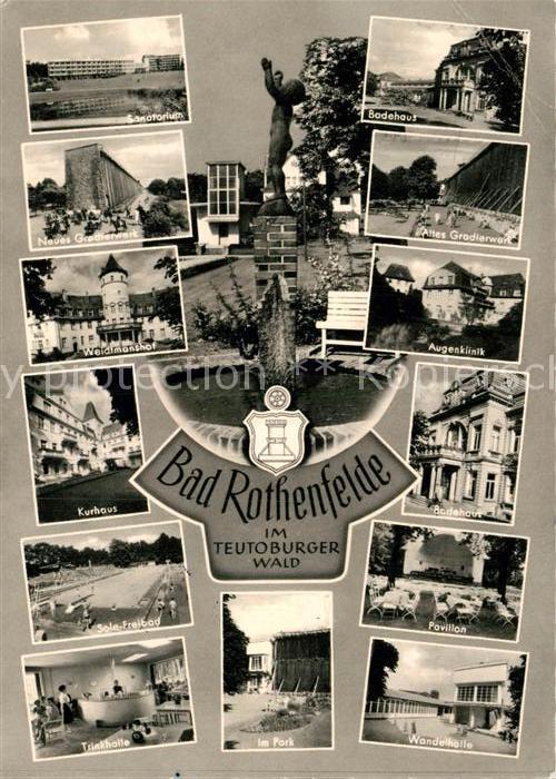 AK / Ansichtskarte Bad Rothenfelde Sanatorium Gradierwerk Badehaus Sole Freibad Kurhaus  Kat. Bad Rothenfelde