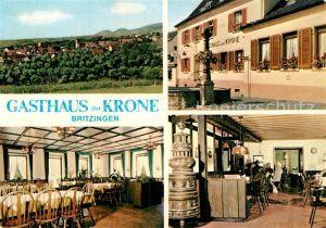 AK / Ansichtskarte Britzingen Gasthaus zur Krone Kat. Muellheim