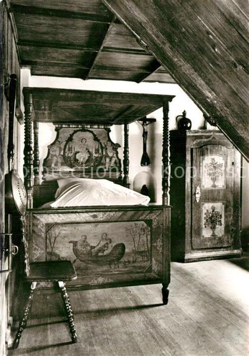 AK / Ansichtskarte Augsburg Fuggerei Altes Schlafzimmer Kat ...