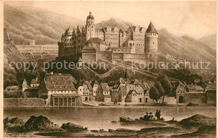 AK / Ansichtskarte Heidelberg Neckar Schloss vor der Zerstoerung 1620 Kat. Heidelberg