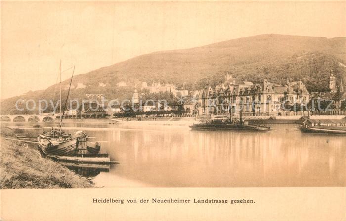 AK / Ansichtskarte Heidelberg Neckar Partie am Neckar Kat. Heidelberg