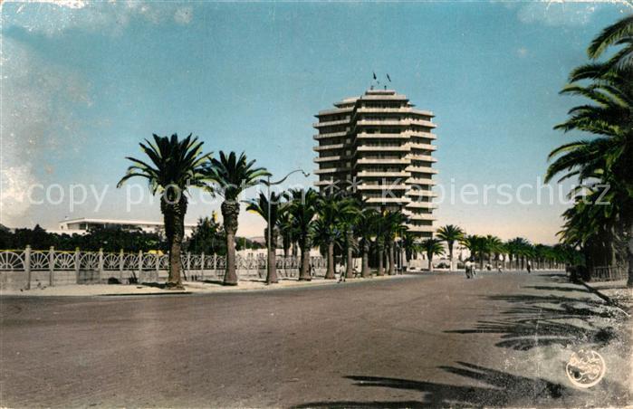 AK / Ansichtskarte Bizerte Avenue de la Marne et le Building Inter Armes Kat. Tunesien