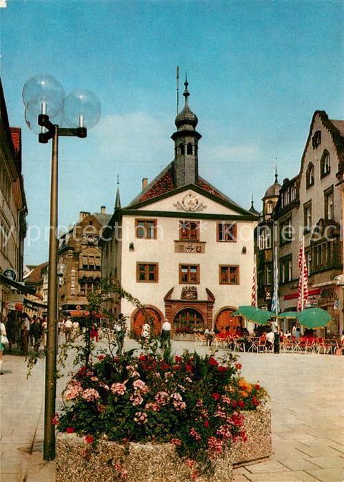 AK / Ansichtskarte Bad Kissingen Marktplatz mit Rathaus Strassencafe Kat. Bad Kissingen