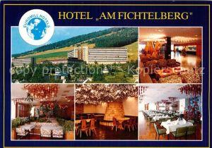 AK / Ansichtskarte Oberwiesenthal Erzgebirge Euromill Hotel Am Fichtelberg Foyer Restaurant Knappenstube Kat. Oberwiesenthal