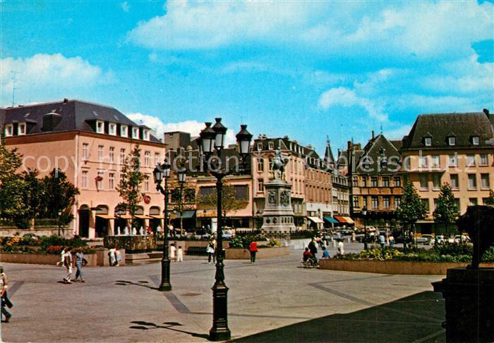 AK / Ansichtskarte Luxembourg Luxemburg Place Guillaume II Monument Kat. Luxembourg