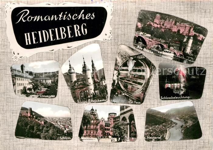 AK / Ansichtskarte Heidelberg Neckar Sehenswuerdigkeiten der Stadt Kat. Heidelberg