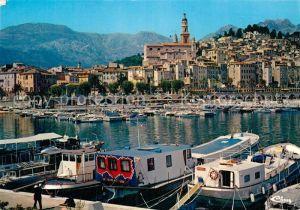 AK / Ansichtskarte Menton Alpes Maritimes Le port et la vieille ville Kat. Menton