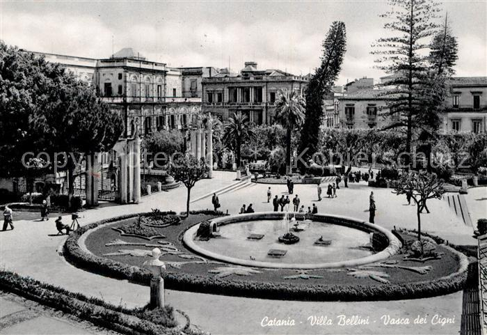 AK / Ansichtskarte Catania Villa Bellini Vasca dei Cigni  Kat. Catania